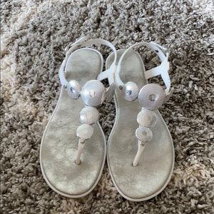 Shoes - Silver & white Sandals